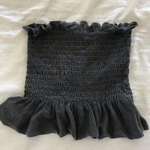 Dark grey tube top